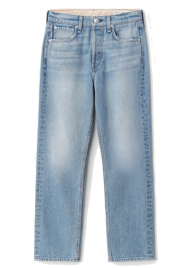 Maya High Waisted Ankle Wide Leg Jeans - Harper main image