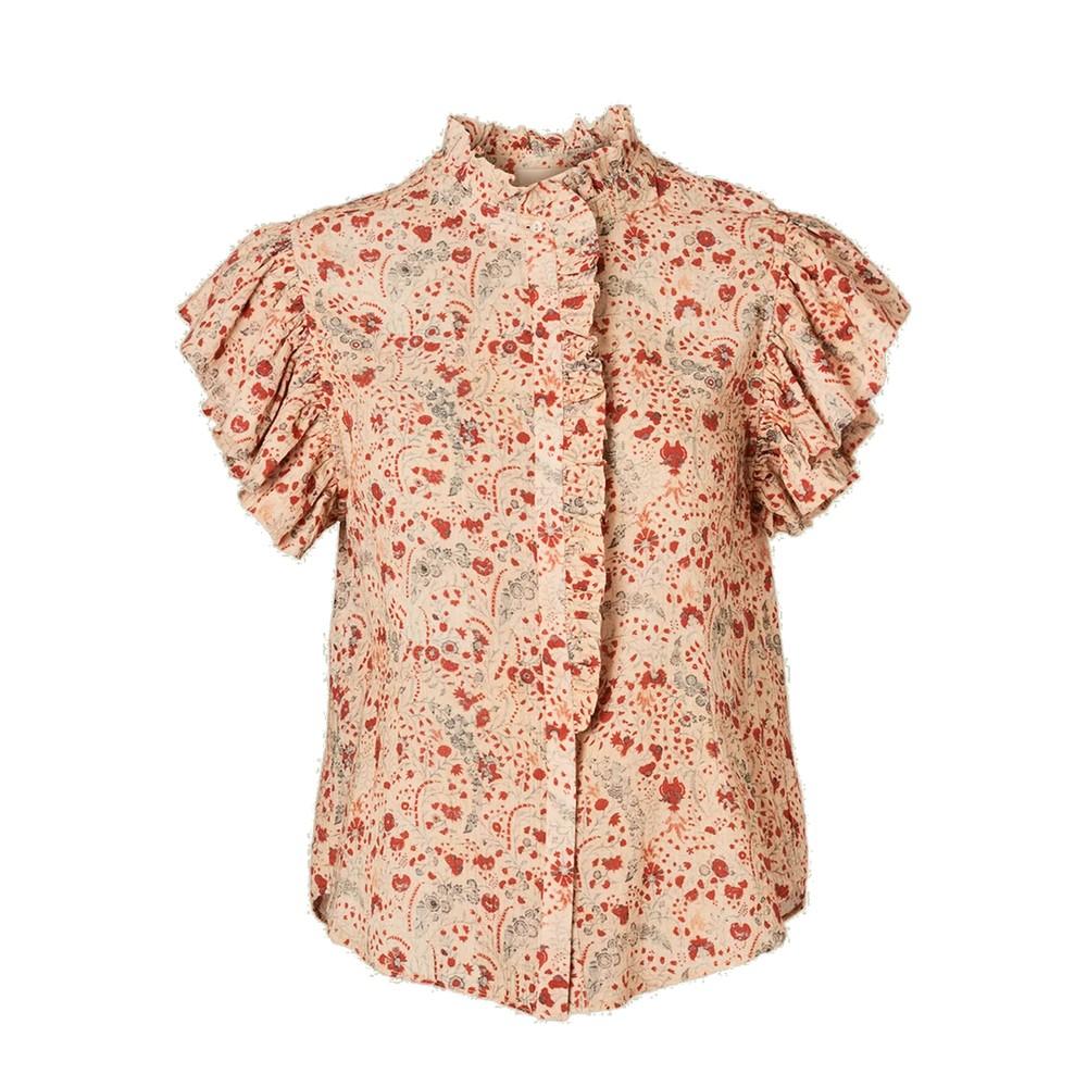 Kelby Short Sleeve Cotton Top - Multi