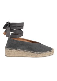 CASTANER Gea Canvas Wedge Espadrille - Charcoal