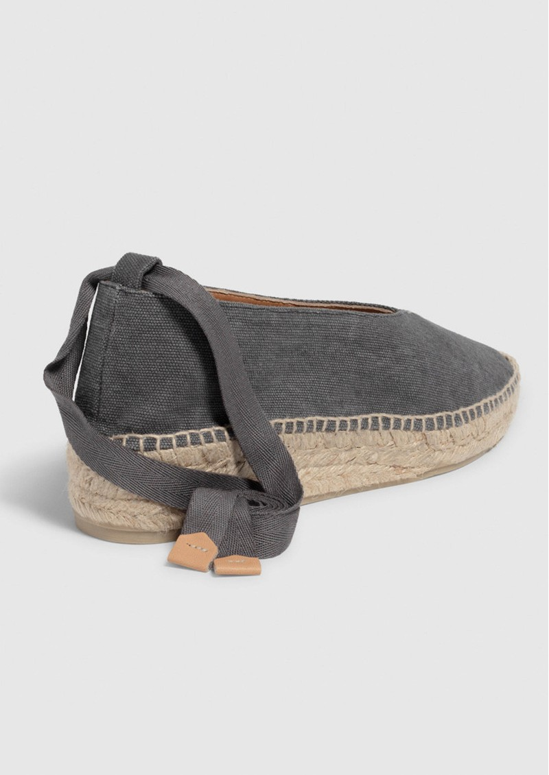 CASTANER Gea Canvas Wedge Espadrille - Charcoal main image
