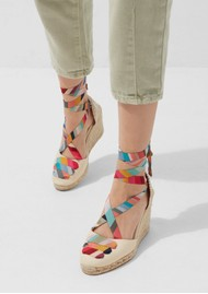CASTANER Castaner x Paul Smith Coralia Wedge Espadrille - Ivory