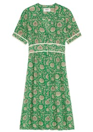 Ba&sh Plume Printed Dress - Vert