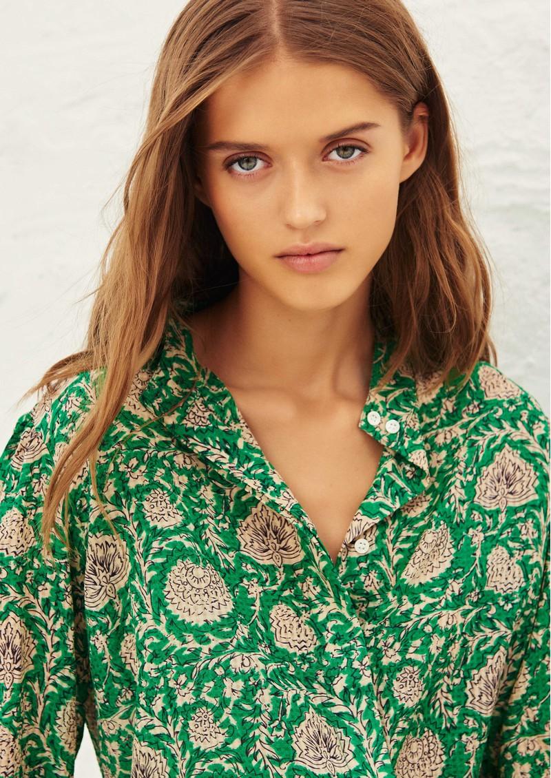 Ba&sh Panama Printed Blouse - Vert  main image