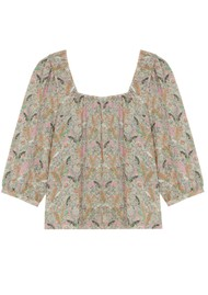Ba&sh Jerry Printed Blouse - Ecru
