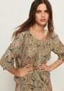Jerry Printed Blouse - Ecru additional image