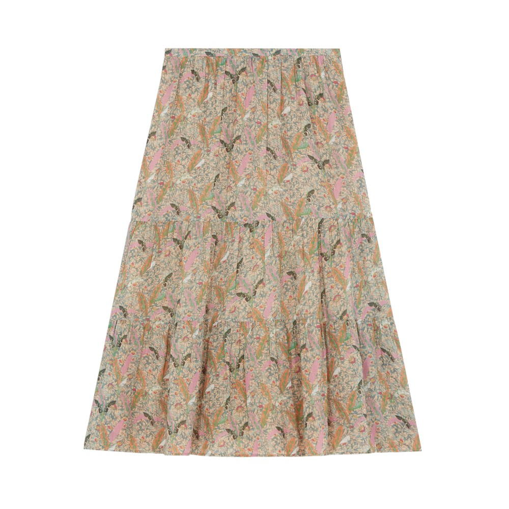 Julia Printed Skirt - Ecru