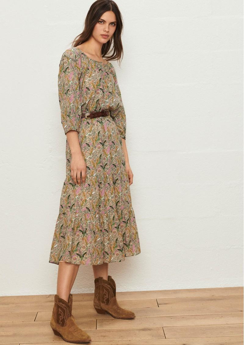 Ba&sh Julia Printed Skirt - Ecru  main image