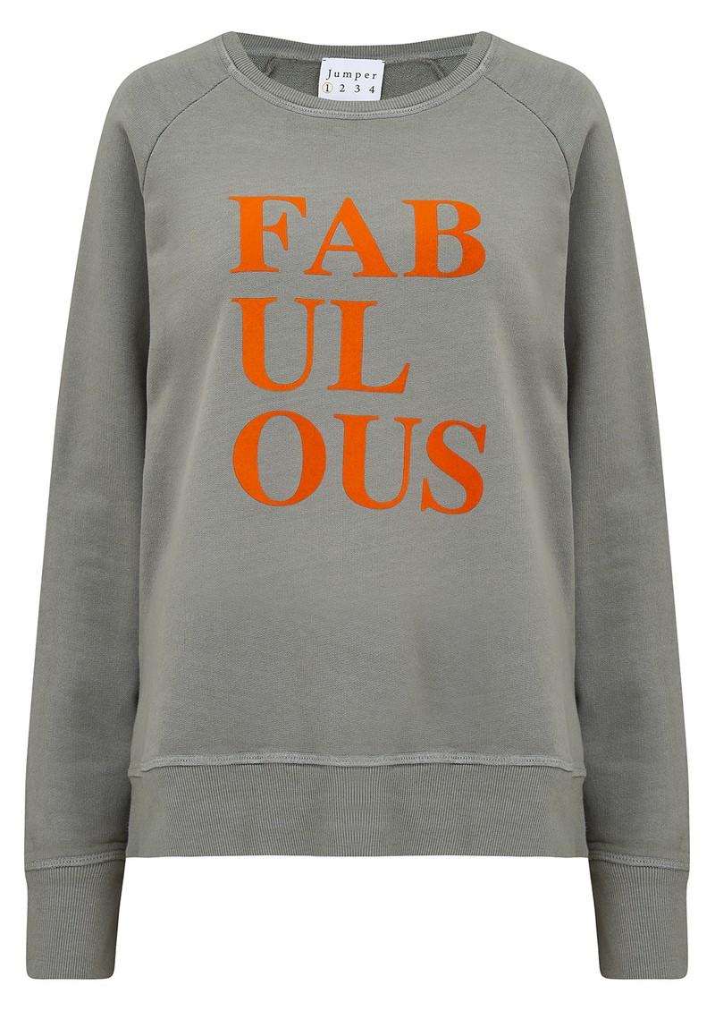 JUMPER 1234 Fabulous Sweatshirt - Grey & Orange main image