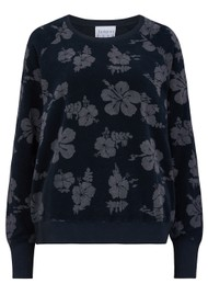 JUMPER 1234 Floral Terry Sweatshirt - Navy