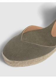 CASTANER Chiara 6 Espadrille Wedge Sandal - Olive