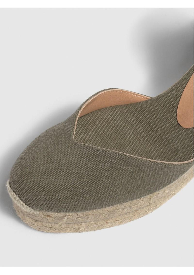 CASTANER Chiara 6 Espadrille Wedge Sandal - Olive main image