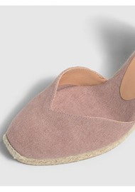 CASTANER Chiara 6 Espadrille Wedge Sandal - Dusty Pink