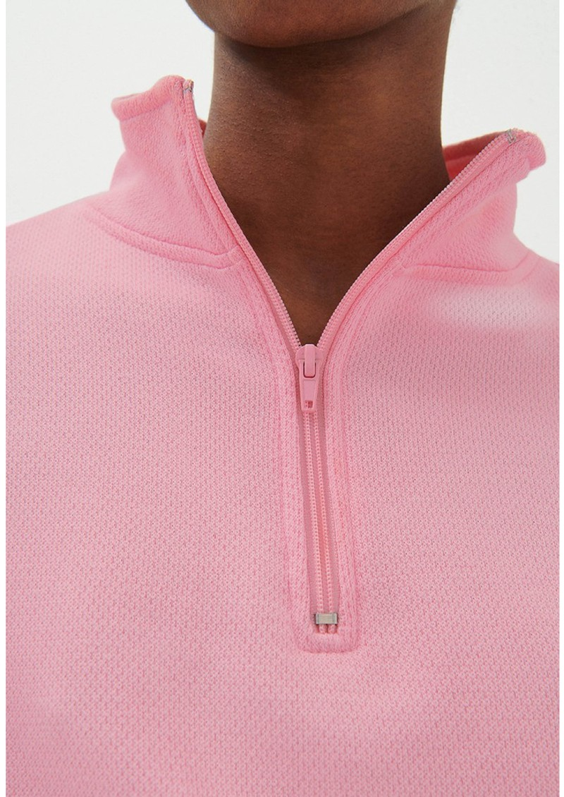 American Vintage Limabird Cotton Zip Up Top - Rose Bubble main image