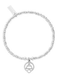 ChloBo Sacred Earth Sparkle Disc Air Bracelet - Silver