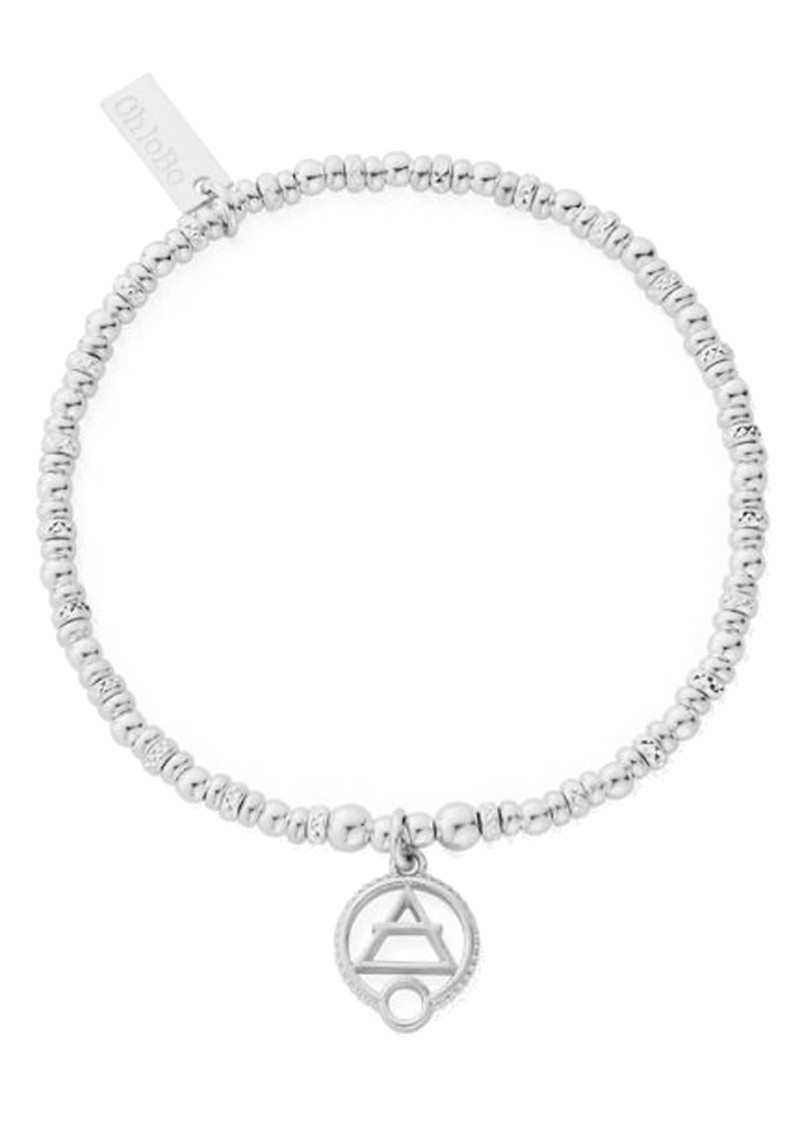 ChloBo Sacred Earth Sparkle Disc Air Bracelet - Silver main image