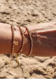 ChloBo Sacred Earth Sparkle Disc Air Bracelet - Gold