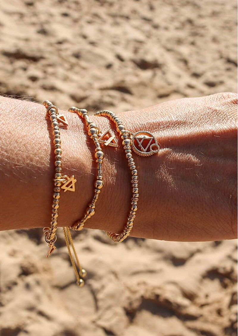 ChloBo Sacred Earth Sparkle Disc Air Bracelet - Gold  main image