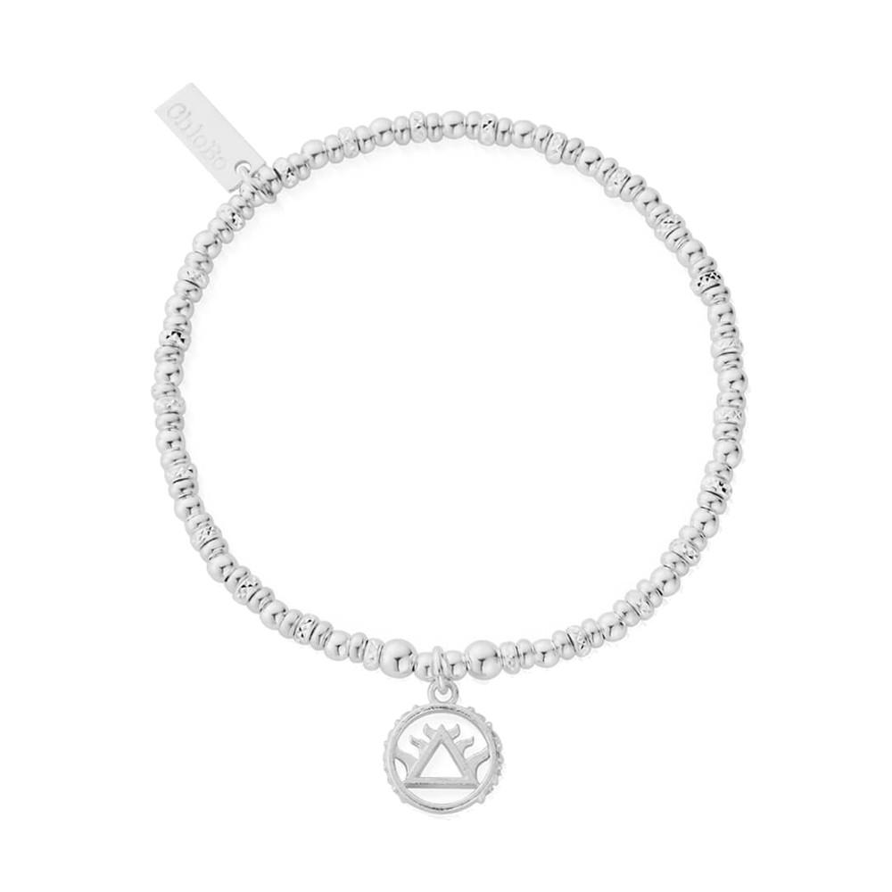 Sacred Earth Sparkle Disc Fire Bracelet - Silver
