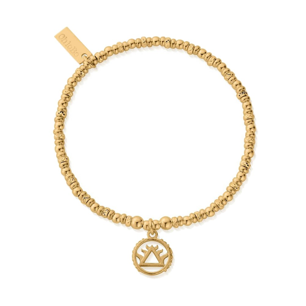 Sacred Earth Sparkle Disc Fire Bracelet - Gold