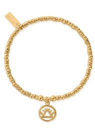 ChloBo Sacred Earth Sparkle Disc Fire Bracelet - Gold