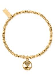 ChloBo Sacred Earth Sparkle Disc Earth Bracelet - Gold