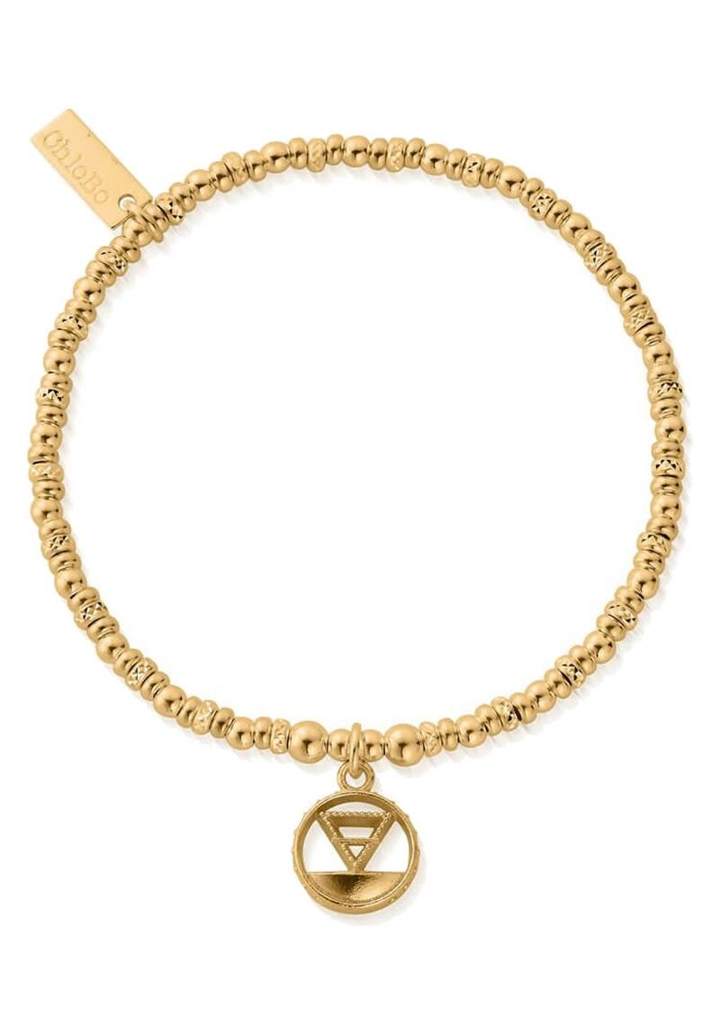 ChloBo Sacred Earth Sparkle Disc Earth Bracelet - Gold main image