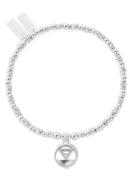 ChloBo Sacred Earth Sparkle Disc Earth Bracelet - Silver