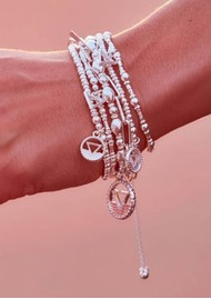 ChloBo Sacred Earth Sparkle Disc Water Bracelet - Silver
