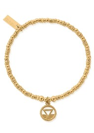 ChloBo Sacred Earth Sparkle Disc Water Bracelet - Gold