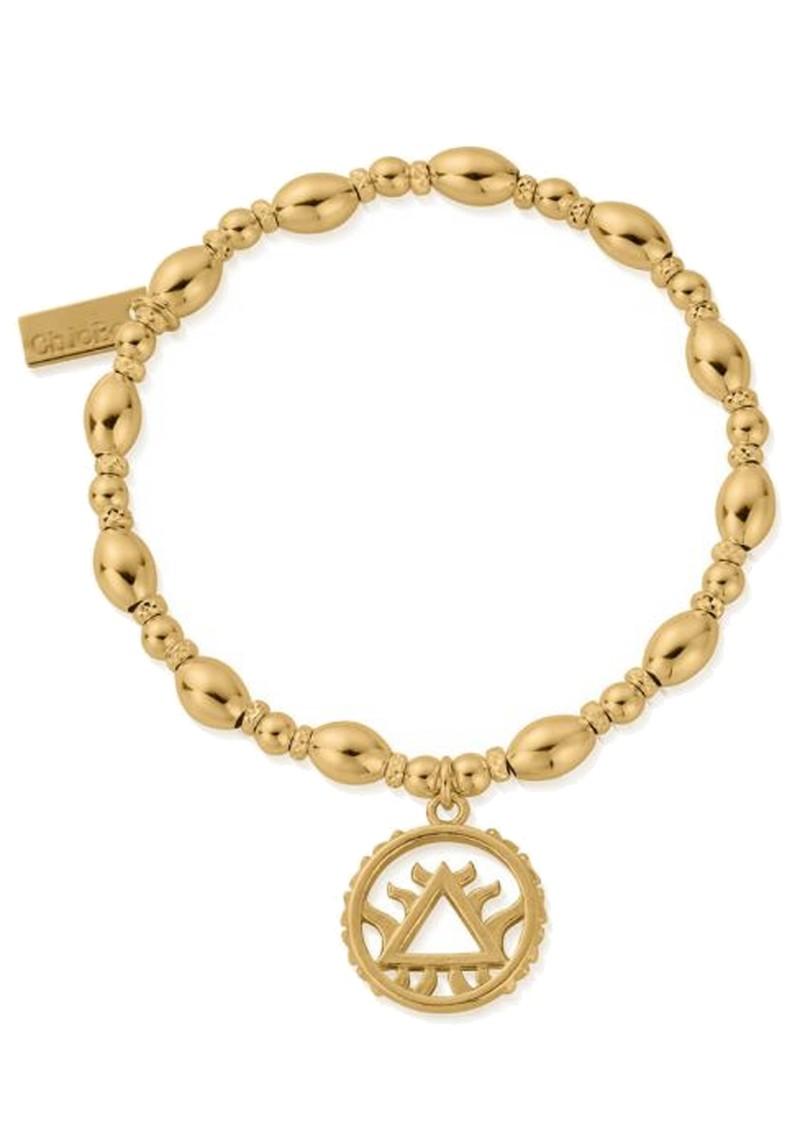 ChloBo Sacred Earth Oval Bead Fire Bracelet - Gold main image