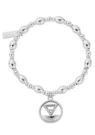 ChloBo Sacred Earth Oval Bead Earth Bracelet - Silver