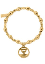 ChloBo Sacred Earth Oval Bead Earth Bracelet - Gold