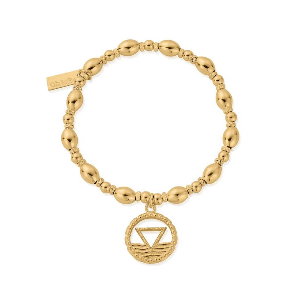 Sacred Earth Oval Bead Water Bracelet - Gold