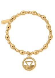 ChloBo Sacred Earth Oval Bead Water Bracelet - Gold