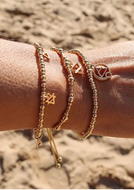 ChloBo Sacred Earth Multi Charm Elements Bracelet - Gold