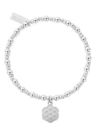 ChloBo Sacred Earth Flower Of Life Bracelet - Silver