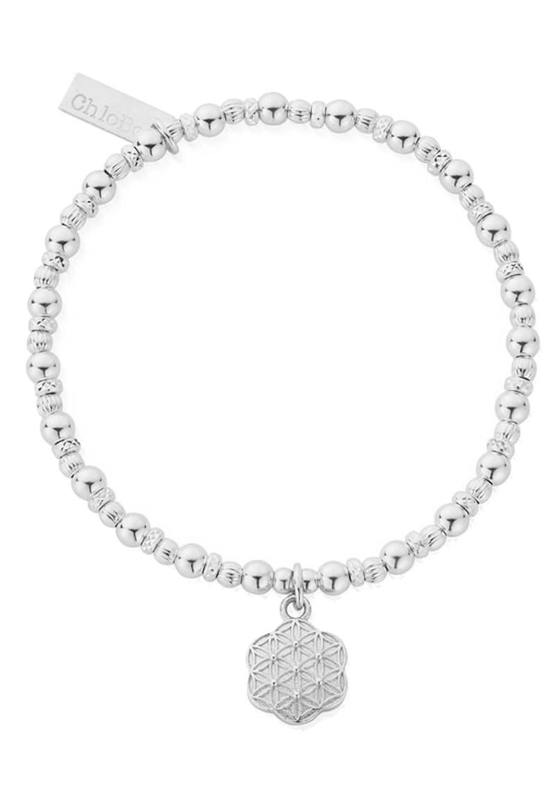 ChloBo Sacred Earth Flower Of Life Bracelet - Silver main image