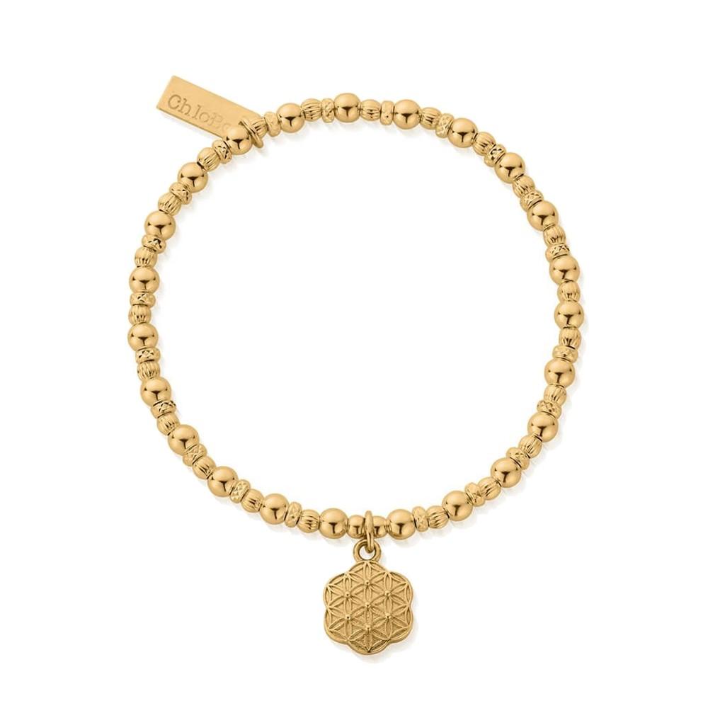 Sacred Earth Flower Of Life Bracelet - Gold