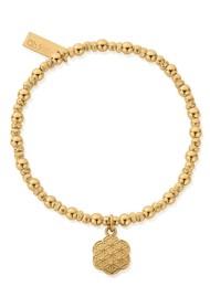 ChloBo Sacred Earth Flower Of Life Bracelet - Gold