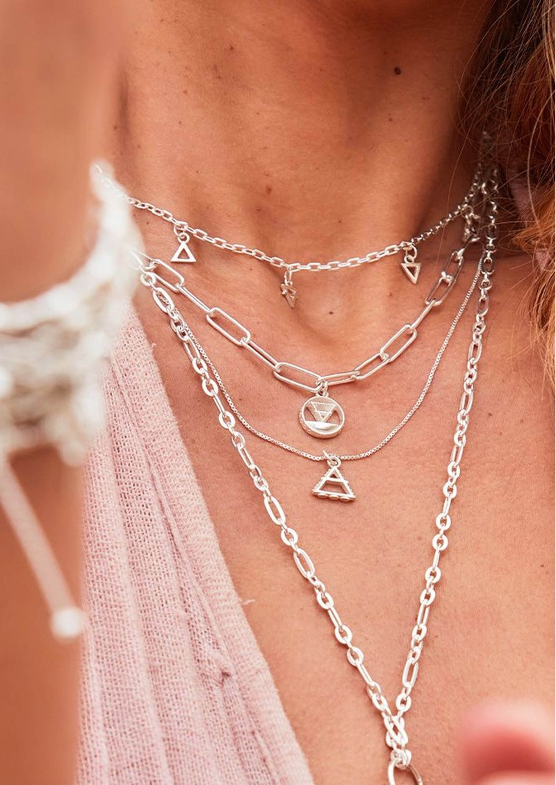 ChloBo Sacred Earth Delicate Box Chain Air Necklace - Silver main image