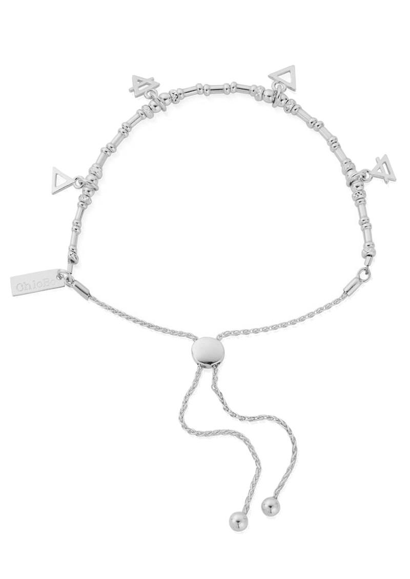 ChloBo Sacred Earth Multi Charm Elements Adjuster Bracelet - Silver main image