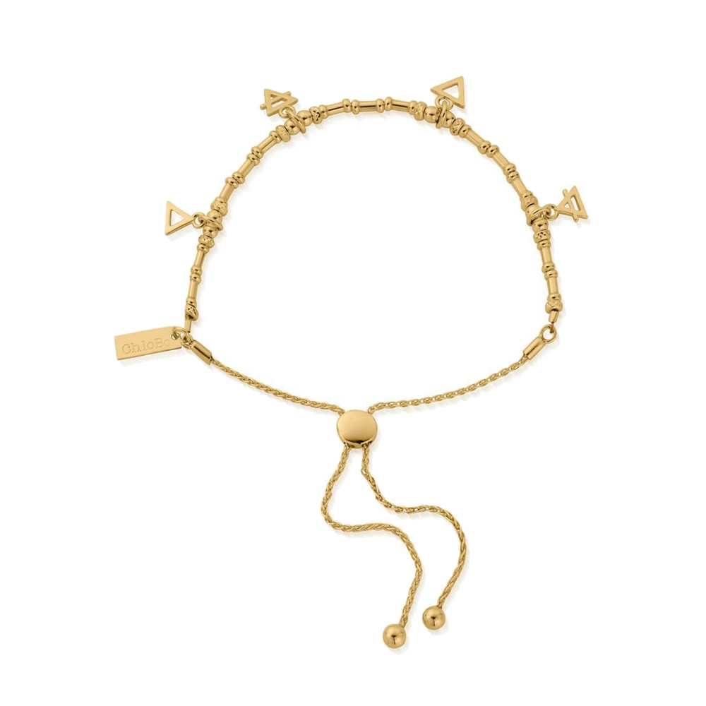 Sacred Earth Multi Charm Elements Adjuster Bracelet - Gold