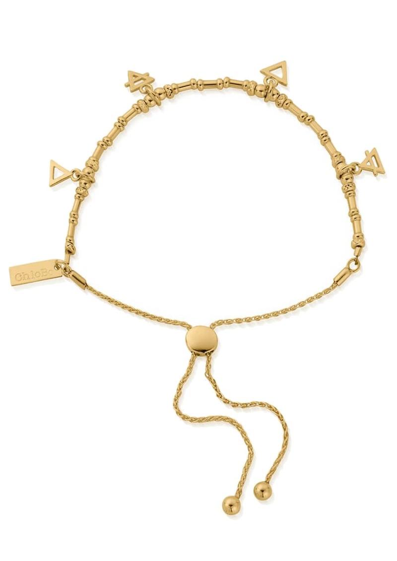 ChloBo Sacred Earth Multi Charm Elements Adjuster Bracelet - Gold main image
