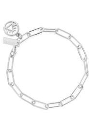 ChloBo Sacred Earth Link Chain Fire Bracelet - Silver