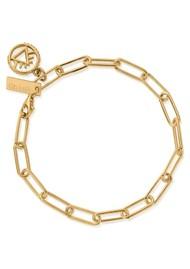 ChloBo Sacred Earth Link Chain Fire Bracelet - Gold