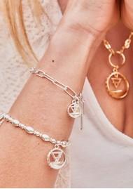 ChloBo Sacred Earth Link Chain Earth Bracelet - Silver