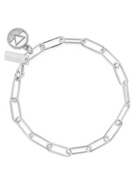 ChloBo Sacred Earth Link Chain Water Bracelet - Silver