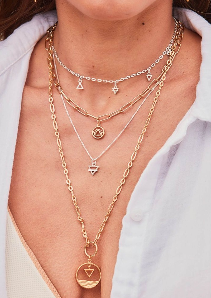 ChloBo Sacred Earth Water Pendant Necklace - Gold main image