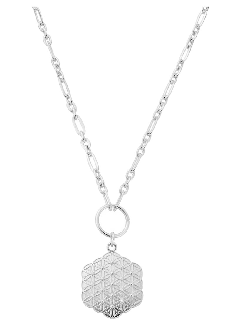 ChloBo Sacred Earth Flower of Life Necklace - Silver main image