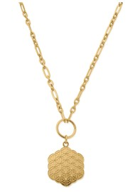ChloBo Sacred Earth Flower of Life Necklace - Gold